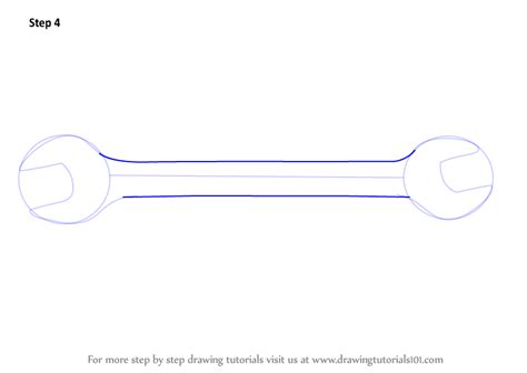 how to draw tools learn how to draw open end spanner tools step by step