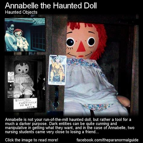 annabelle the haunted doll paranormal around annabelle the haunted doll