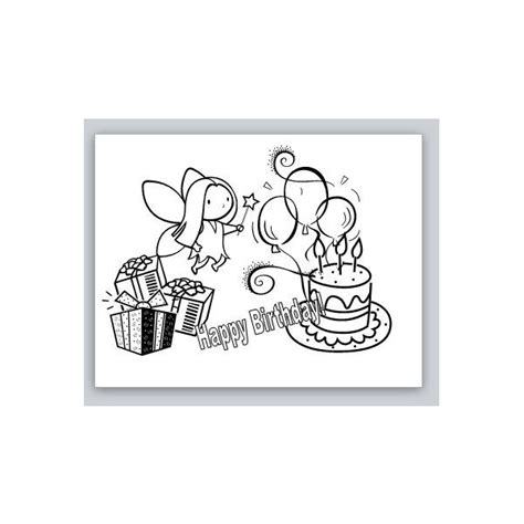 birthday coloring card template free publisher birthday card templates to