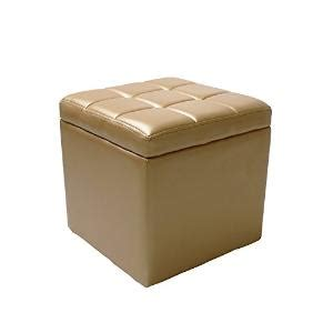 Painted Footstools Gold Storage Ottoman