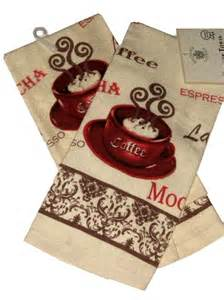 Rooster Kitchen Canister Sets espresso latte mocha coffee themed kitchen towels