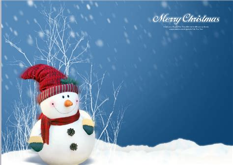 cute snowman powerpoint template free powerpoint
