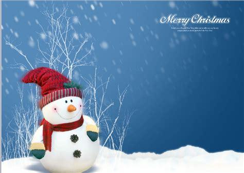 cute snowman powerpoint template free powerpoint