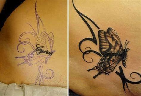 easy tattoo cover up avant apres un nouveau tatouage pour camoufler l ancien
