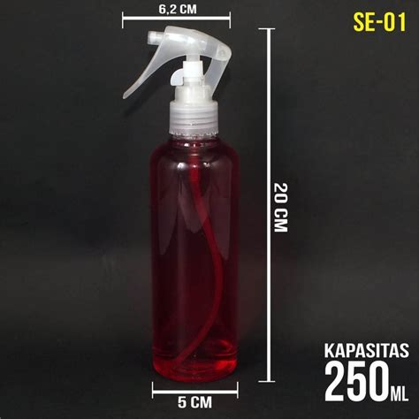 Botol Pet 250 Ml Spray botol plastik kemasan pet transparan spray triger 250 ml