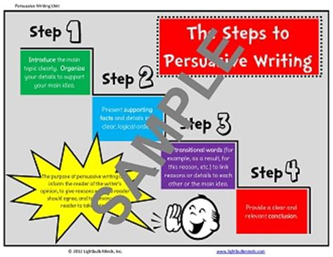 Steps To Write A Persuasive Essay by Writing Resources From Lightbulb Minds