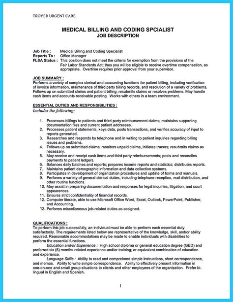 Some People Are Trying To Get The Billing Specialist Job If You Re Also Interested In This Job Billing Resume Templates