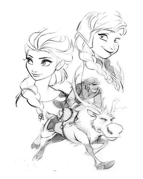 doodle sketch frozen novas concept arts de frozen da disney thecab the