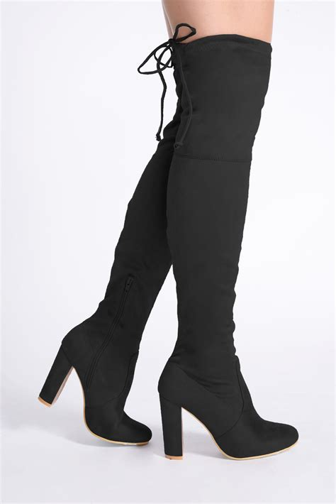 above knee boots the knee suede boots high heel yu boots