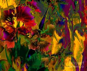 Marvelous Abstract Canvas Art #1: Abstract-flowers-doris-wood.jpg