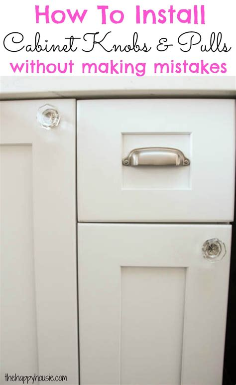 Cabinet Knob Template by How To Install Cabinet Knobs With A Template A Trick For