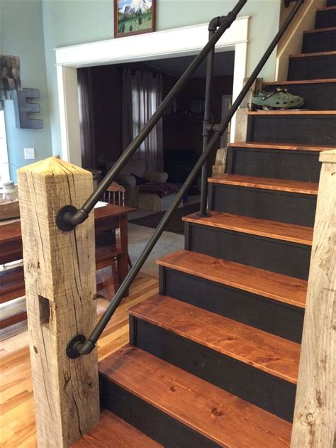 Outdoor Banisters And Railings Best 25 Rustic Stairs Ideas On Pinterest Industrial