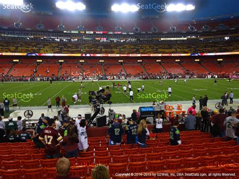 sec section fedex field section 103 seat views seatgeek