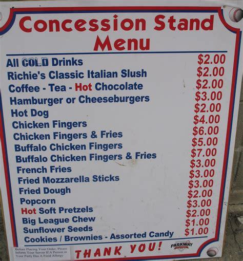 concession menu template concession stand menu template professional high