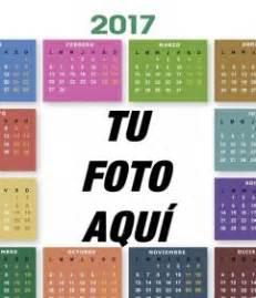 Calendario 2018 Para Editar Calendario 2017 De Colores Para Editar Con Tu Foto Gratis