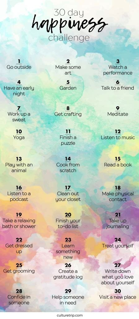 design love fest health challenge the 30 day happiness challenge