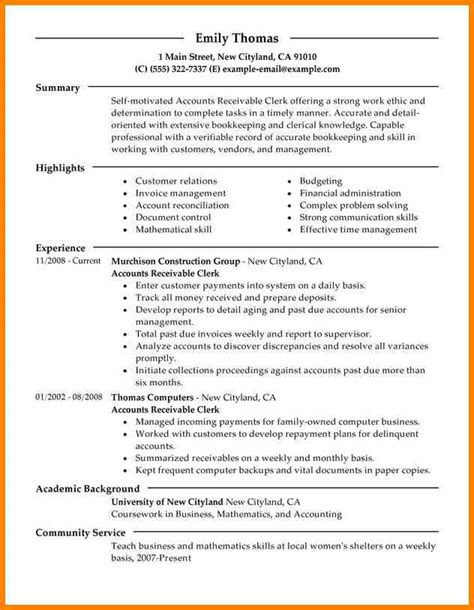 5 entry level accounting resume sles cashier resumes