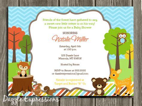 free printable birthday invitations woodland printable woodland baby shower invitation forest animals