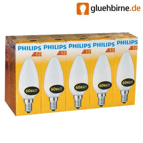 glühbirne 60 watt matt 10 x philips gl 252 hbirne kerze 60w e14 matt gl 252 hle