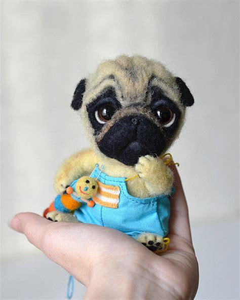 needle felted pug needle felted pug puppy felt from fenekdolls on etsy
