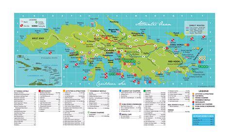 large travel map  st thomas island  virgin islands