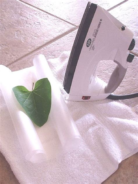 How To Make Wax Paper Leaves - make a wax paper leaf pressing