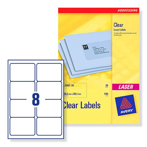 printable laser labels buy avery l7565 clear laser printer labels 99 1x67 7mm 8