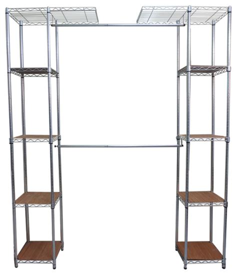 Chrome Closet Organizer by Ecostorage Expandable Closet Organizer Chrome