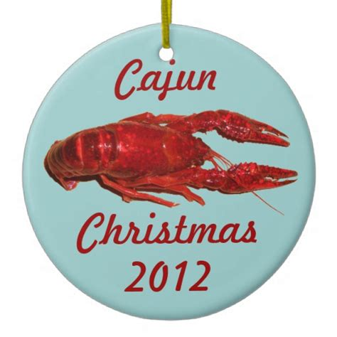 crawfish cajun christmas ornament zazzle