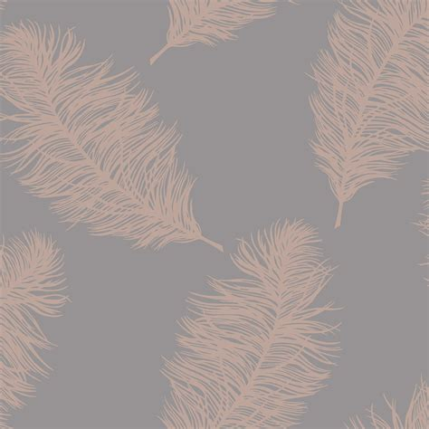 grey and gold holden statement wallpaper fawning feather grey and rose