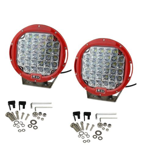 cree led offroad lights pair round 96w cree led driving lights flood spot 9 inch