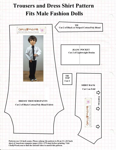 Clothes Pattern For Ken Doll | this is the first of two free patterns i m posting this