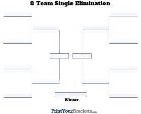 8 team bracket template fillable 8 team tourney bracket editable bracket
