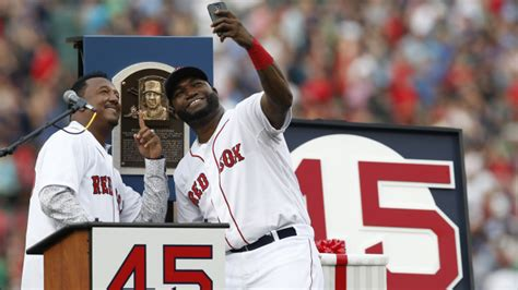 david ortiz house david ortiz pedro martinez snap selfie during number ceremony video boston red
