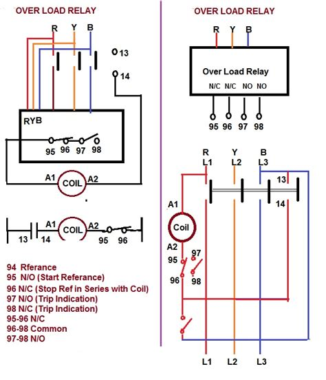 contactor relay coil wiring diagram elec eng world