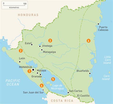 managua nicaragua map nicaragua regionen karte