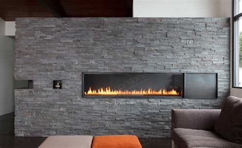Natural Stacked Stone Veneer Fireplace Stack Stone Stacking Fireplace