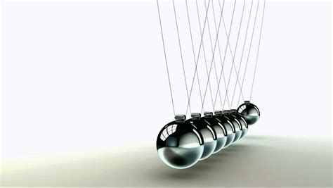 steel balls that swing back and forth newton cradle metal balls perfect loop stock footage video