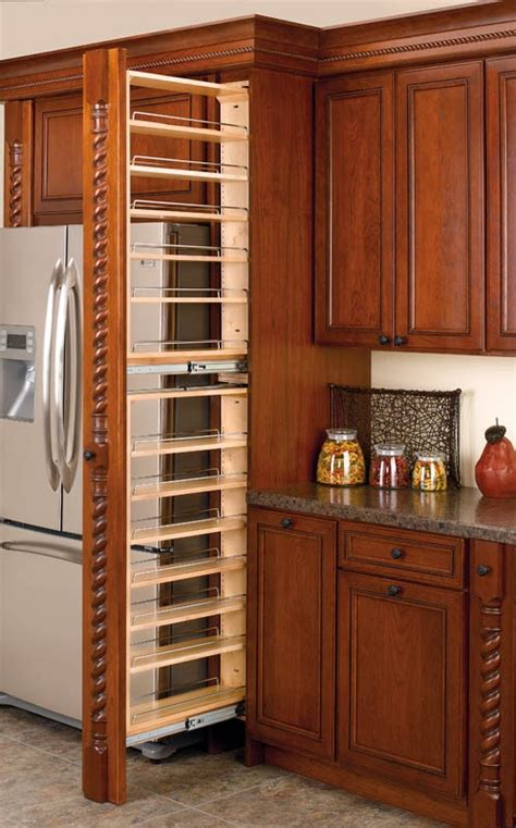 tall pull out kitchen cabinets 45 quot filler pullout organizer