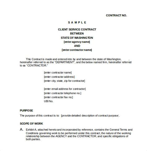 23 Simple Contract Template And Easy Tips For Your Simpler Life Service Agreement Template Doc