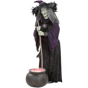 animated halloween props lifesize animated halloween witch w bubbling cauldron