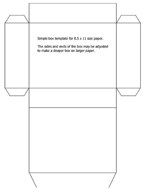 simple box template free download