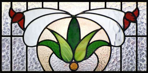 flower design in glass floral stained glass scottish stained glass