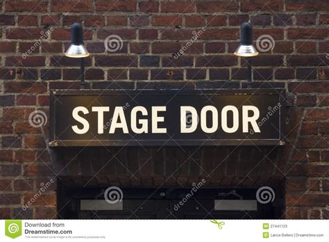 Stage Door by Stage Door Sign Stock Photos Image 27441123
