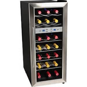 21bottle dual zone wine cooler refrigerator compact stainless steel