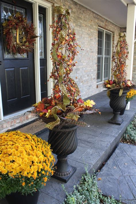porch topiary fall topiaries for the front porch and fall