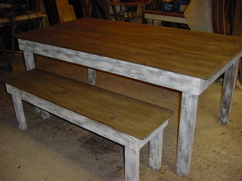 rustic bench table rustic long lasting hand built farm tables just fine tables