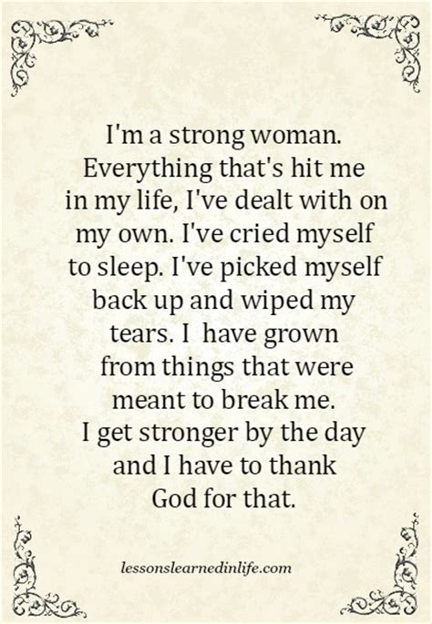 i m a strong woman quotes and sayings lessons learned in lifei m a strong woman lessons learned in life