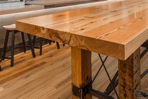Community Tasting Table / Reclaimed Heart Pine & Steel
