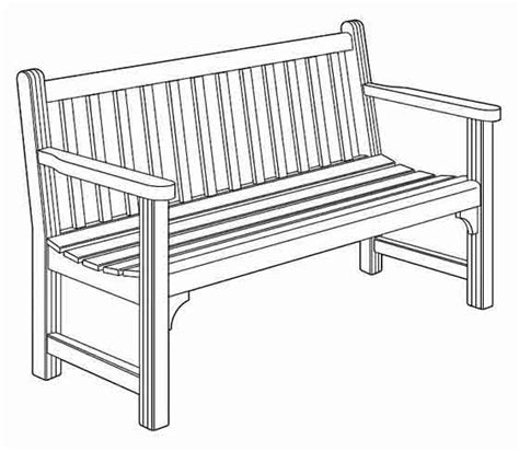 park bench drawing woodworking education